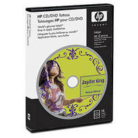 Наклейки на диски HP CD/DVD Tattoos-15 sht/5 x 7 in