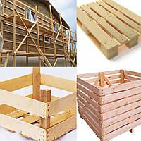 Тара, ящики, контейнеры из дерева, поддоны, строительные леса
