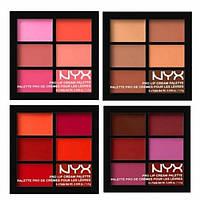 Помада палетка помад NYX Pro Lip Cream 6 цветов  Набор кремовых помад Nyx Pro Lip Cream Palette 4 палетки из 6