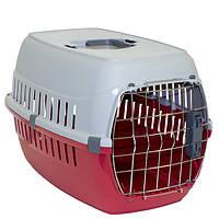 Переноска для собак и котов IATA с металлической дверью Moderna РОУД-РАННЕР 1, 51Х31Х34 см красный ц