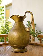Массивный бронзовый кувшин ручной работы, бронза, Германия, фото 1