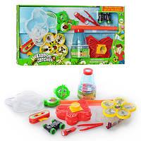 Сачок для бабочек, игра для ловли насекомых, фонарик, бинокль, свет, M1727