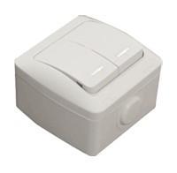 Выключатель 2клв с подсветкой белый EVA