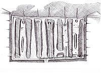 Эскиз кованого ограждения