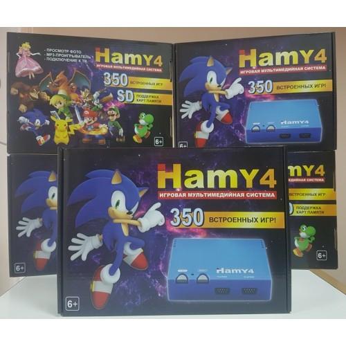 Игровая приставка HAMY 4 со встроенными 350 играми Денди 8 бит Dendy 8 Bit Sega Mega Drive 2 16 Bit Сега Мега