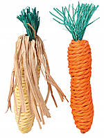 Игрушка Trixie Set of Straw Toys для грызунов, 15 см