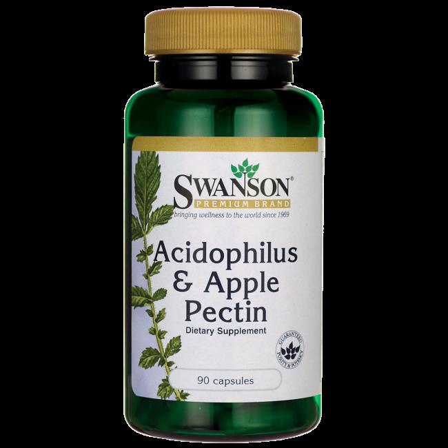 Swanson Premium Acidophilus & Apple Pectin Ацидофильные бактерии с яблочным пектином  90 капс