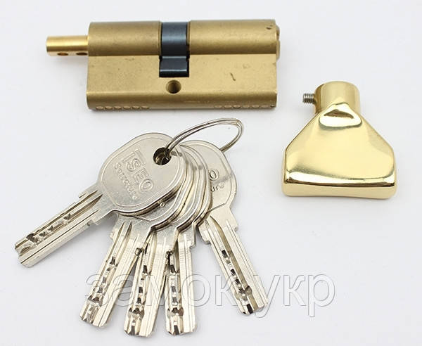 Iseo R6 95мм 50х45 ключ/тумблер латунь (Италия)