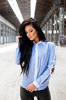 Рубашка с завязками на рукавах