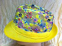 Шляпа  из соломки и сетки с вышивкой