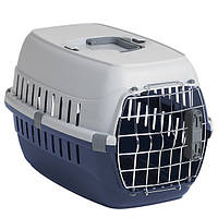 Переноска для собак и котов IATA с металлической дверью Moderna РОУД-РАННЕР 1, 51Х31Х34 см кобальт с