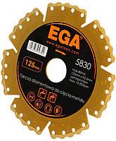 Диск алмазний по м'яких металах 125х22,2 мм EGA