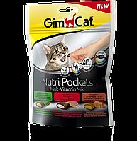 GimCat Nutri Pockets Malt Vitamin Mix лакомство микс 150 г