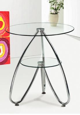 Стол журнальный (придиванный) СТ126 49*49*54 см (каленое стекло)