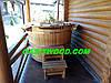 Овальная офуро, фурако, японская баня из термососны. Размер 200х170 высрта 120см