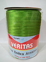 Косая бейка атласная цв S-047 зеленый яркий (боб 120ярдов) Veritas