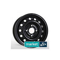 Штампованные (железные) диски Steel Wheels YA 535 Black (R16 W6.5 PCD5x114.3 ET52 DIA64.1)