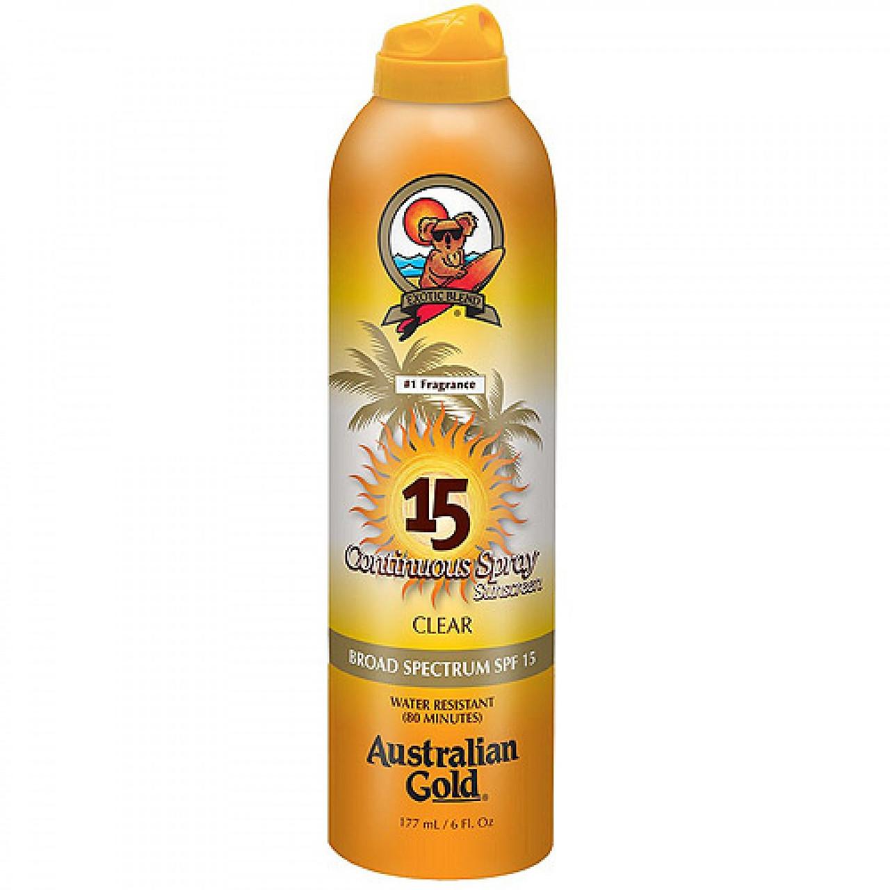 Солнцезащитный спрей Australian Gold Continuous Spray Clear SPF 15