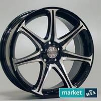 Литые легкосплавные диски Racing Wheels H-134 BK/FP