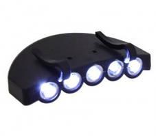 Led cap light светодиодная подсветка фонарик на кепку рыбалка