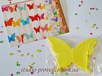 """Гірлянда """"Метелик"""" жовта 2,5 м"""