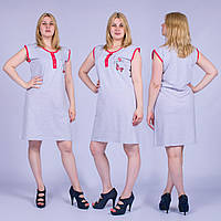 Женское домашнее платье без рукавов Турция. MORAL 01-26 M-R. Размер 48-50.
