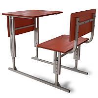 Парта школьная одноместная регулируемая по высоте с передней панелью. Школьная мебель от производителя