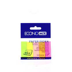 Стикеры Economix закладки 15х45. неоновые