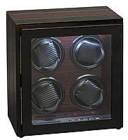 Шкатулка для автоподзавода 4-х часов Rothenschild RS-54-4-BE с LCD дисплеем