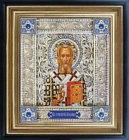 Григорий Богослов именная икона скань