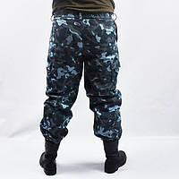 Штаны для охраны утепленные камуфляж (синие)