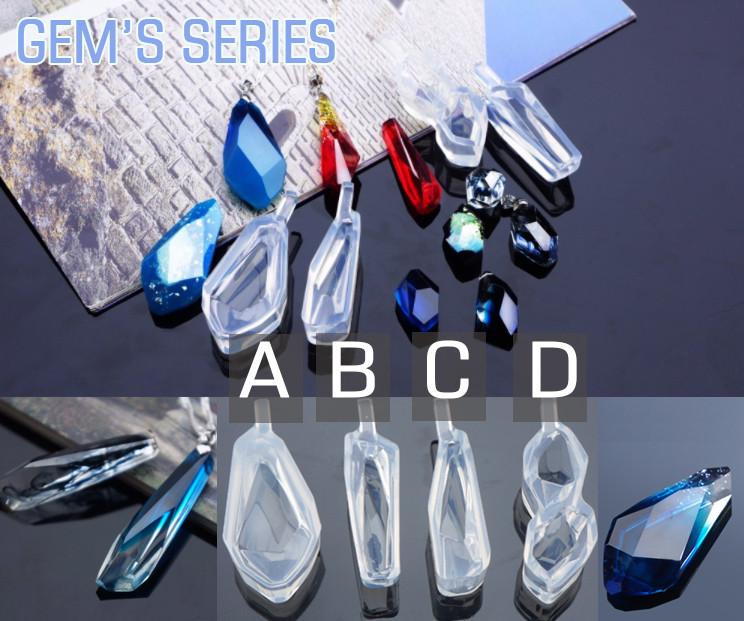 """Молд из серии Gem's  """"Драгоценные камни""""  кристалл модель С, прозрачный промышленный силикон"""