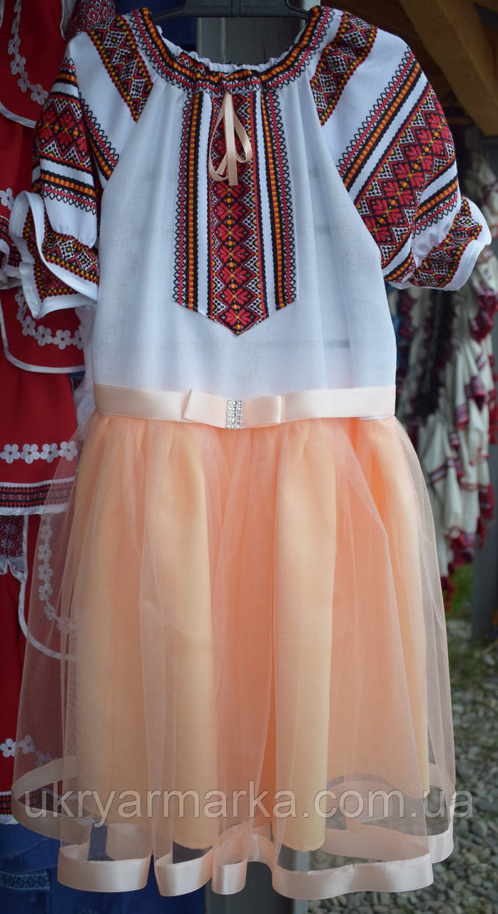 """Плаття для дівчинки """"Мар'яна"""" коралове"""