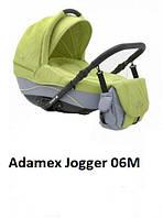 Коляска  2 в 1 Adamex Jogger 06M салатовый с серым
