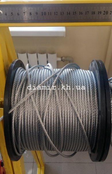 Трос стальной 6 мм 6х19 + 1FC цб с органической сердцевиной DIN 3060