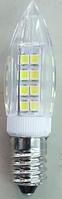Лампа светодиодная LED E14 6000K 7W свечка мини