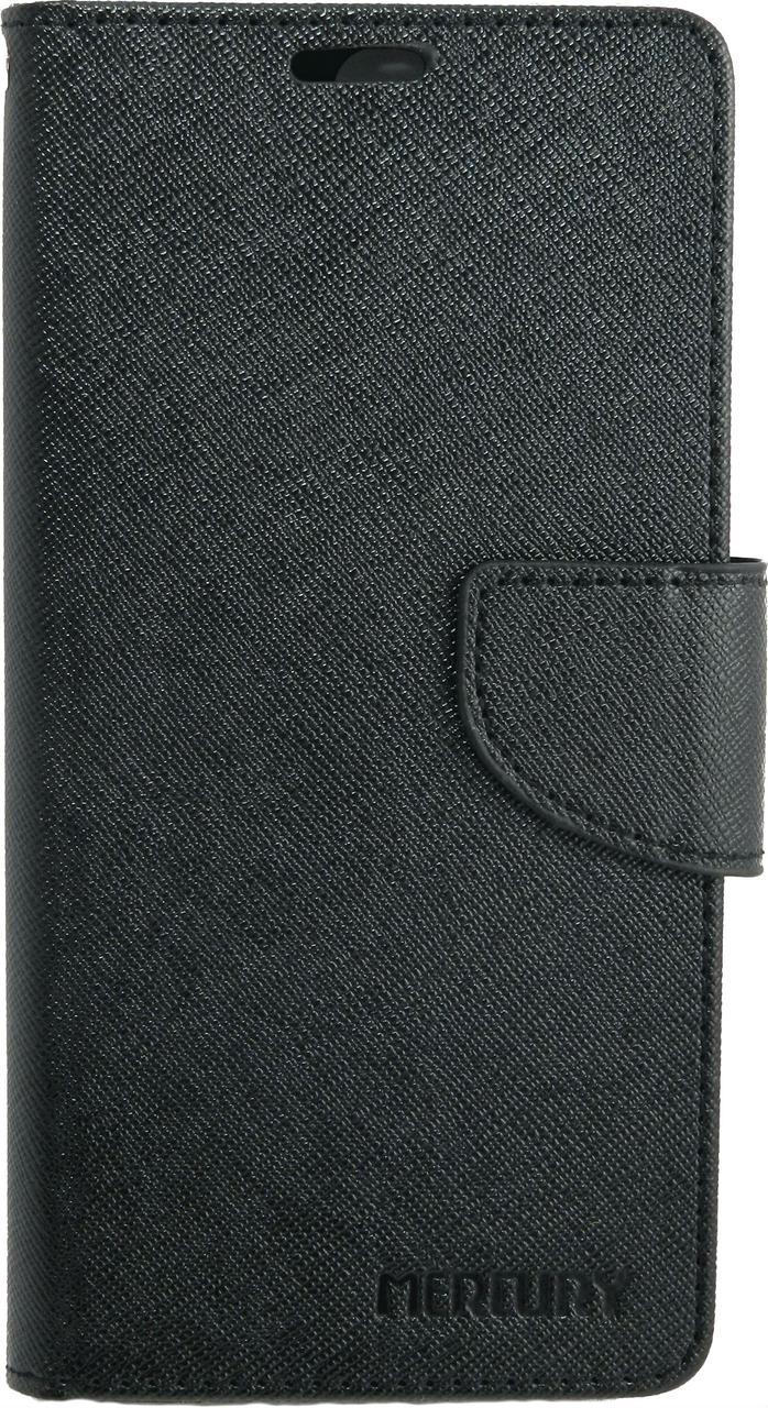 Чехол книжка для Huawei P10 Plus боковой с отсеком для визиток, MERCURY GOOSPERY, Черный