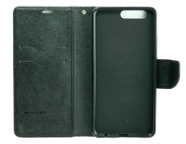 чехол книжка на Huawei P10 plus mercury goospery черный