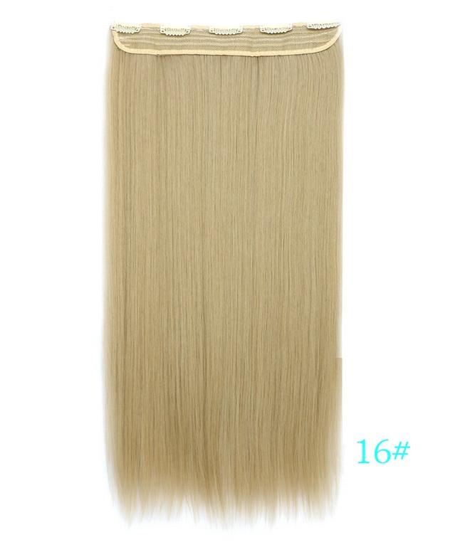 Накладне волосся на кліпсах,тресс 60 см колір блонд