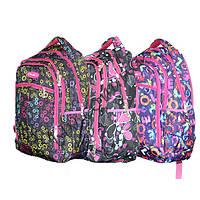 Рюкзак для девочек в школу фабричный пошив Five Club LC1173