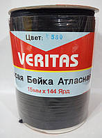 Косая бейка атласная цв S-580 черная (уп 131,6м) Veritas