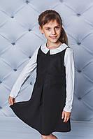 Стильный сарафан с кружевом для девочки черный