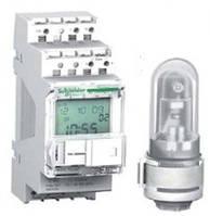 Сумеречный выключатель с фотодатчиком для настенного монтажа 100k+ 2C v.2  Schneider Electric IC (CCT15253)