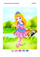 """Схема для частичной вышивки бисером 12х15 см  """"Принцесса Дженифер"""""""
