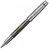 Перьевая ручка Parker IM Premium Custom Chiselled FP коричневая лакированная с хромированной отделкой 20 412B