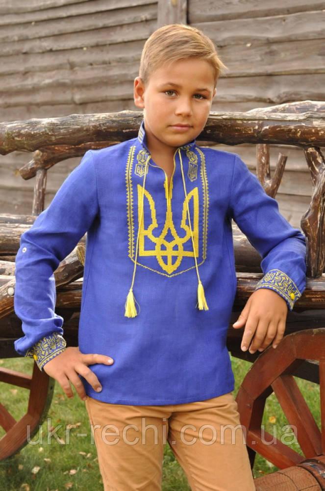 """Вишита сорочка для хлопчика """"Тризуб"""""""