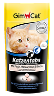 Витамины Gimpet Katzentabs для кошек с сыром маскарпоне и рыбой, 65 шт/40 г