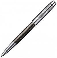 Ручка роллер Parker IM Premium Custom Chiselled RB коричневая лакированная с хромированной отделкой 20 422B