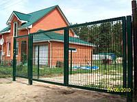 Ворота 2050х5000мм/2 столба 80х80х2,0мм - Цинковое + ПВХ покриття