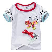 Детская футболка с бантиками , из хлопка, для девочки.